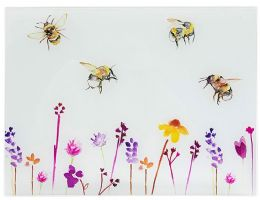 Glass Chopping Board Busy Bees Design by Jennifer Rose Gallery